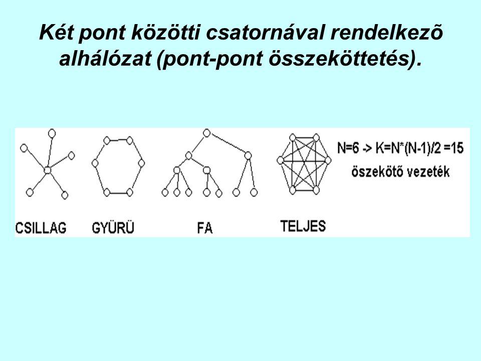 Két pont közötti csatornával rendelkezõ alhálózat (pont-pont összeköttetés).