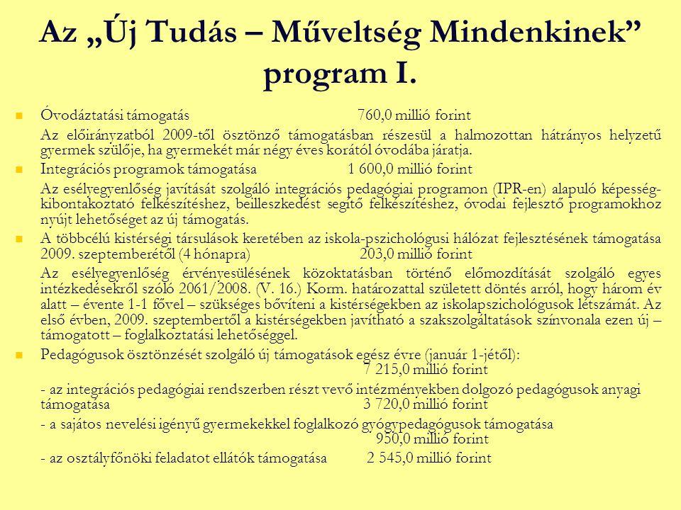 """Az """"Új Tudás – Műveltség Mindenkinek program I."""