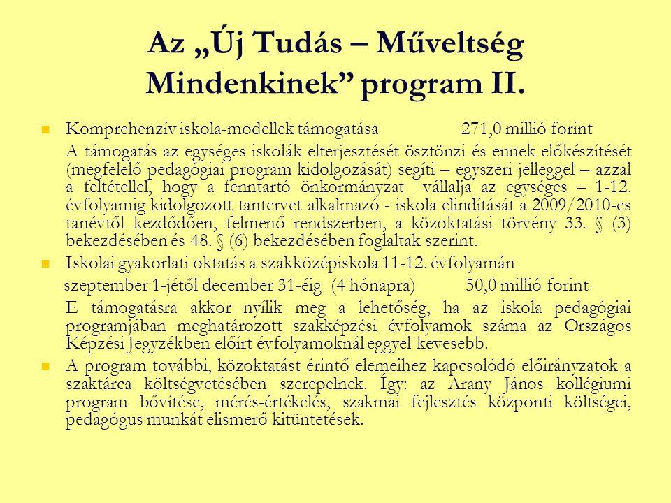 """Az """"Új Tudás – Műveltség Mindenkinek program II."""