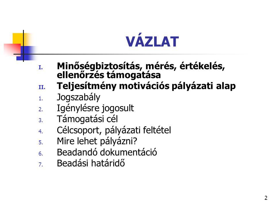 3 KÖZÖS JOGSZABÁLYI HÁTTÉR A Magyar Köztársaság 2009.
