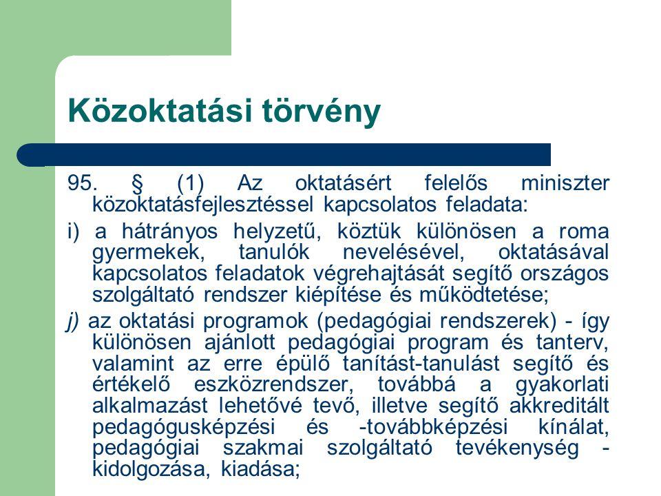 Közoktatási törvény 95.
