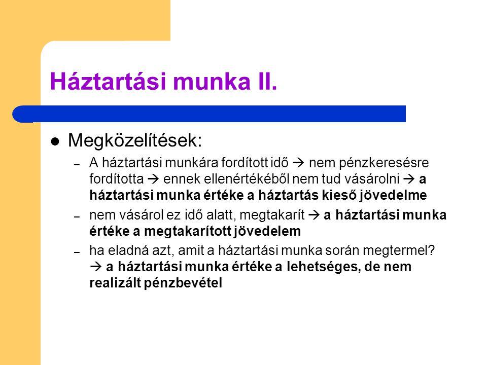 Háztartási munka II.