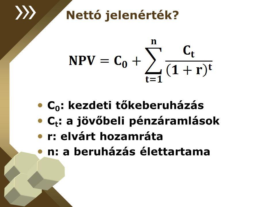 Tőkeköltségvetés készítése A lehetséges, pozitív nettó jelenértékű beruházásokat tartalmazza Több beruházás is megvalósítható egyszerre, akkor maximalizálni kell az NPV-t Tőkekorlátba is ütközhetünk!