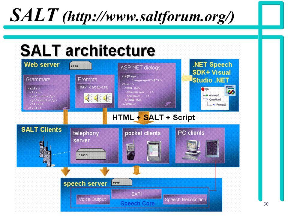 30 SALT (http://www.saltforum.org/)