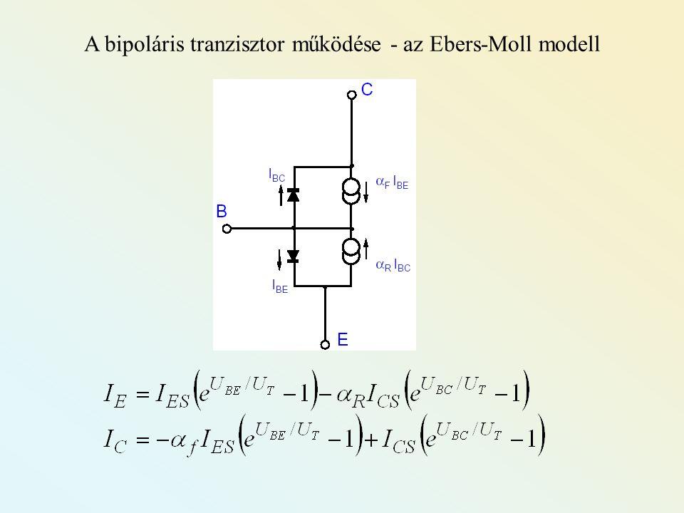 A bipoláris tranzisztor működése - az Ebers-Moll modell