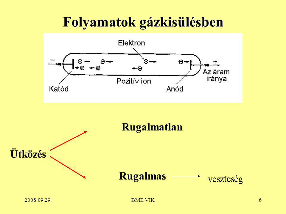 2008.09.29.BME VIK17 Fénycsövek főbb jellemzői Teljesítmény: 4 – 80 W; Fényáram: 200 – 7000 lm Fényhasznosítás:  *  100 lm/W Rövid felfutási és újragyújtási idejű Élettartamuk: 10-15 kh ( átlagos égési időtartam 3 h, tápfeszültség ingadozás max.