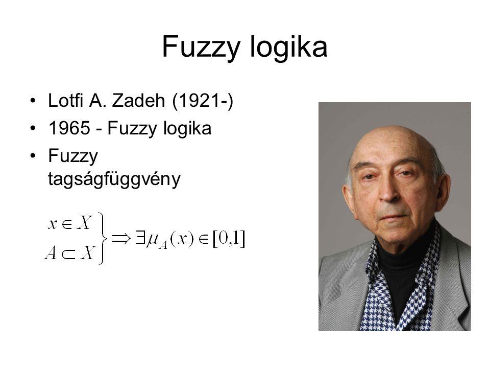 Fuzzy logika Lotfi A. Zadeh (1921-) 1965 - Fuzzy logika Fuzzy tagságfüggvény