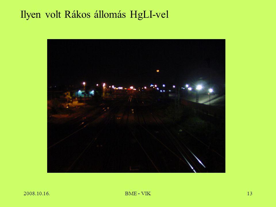 2008.10.16.BME - VIK13 Ilyen volt Rákos állomás HgLI-vel