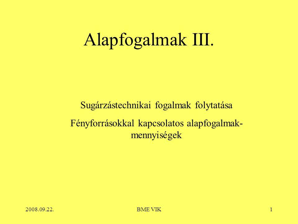 2008.09.22.BME VIK1 Alapfogalmak III.
