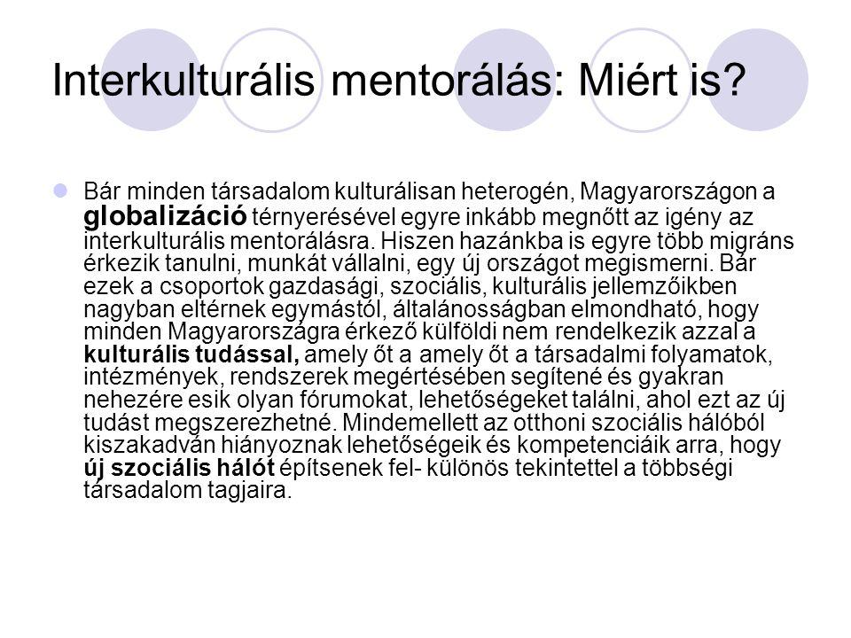 Interkulturális mentorálás: Miért is? Bár minden társadalom kulturálisan heterogén, Magyarországon a globalizáció térnyerésével egyre inkább megnőtt a
