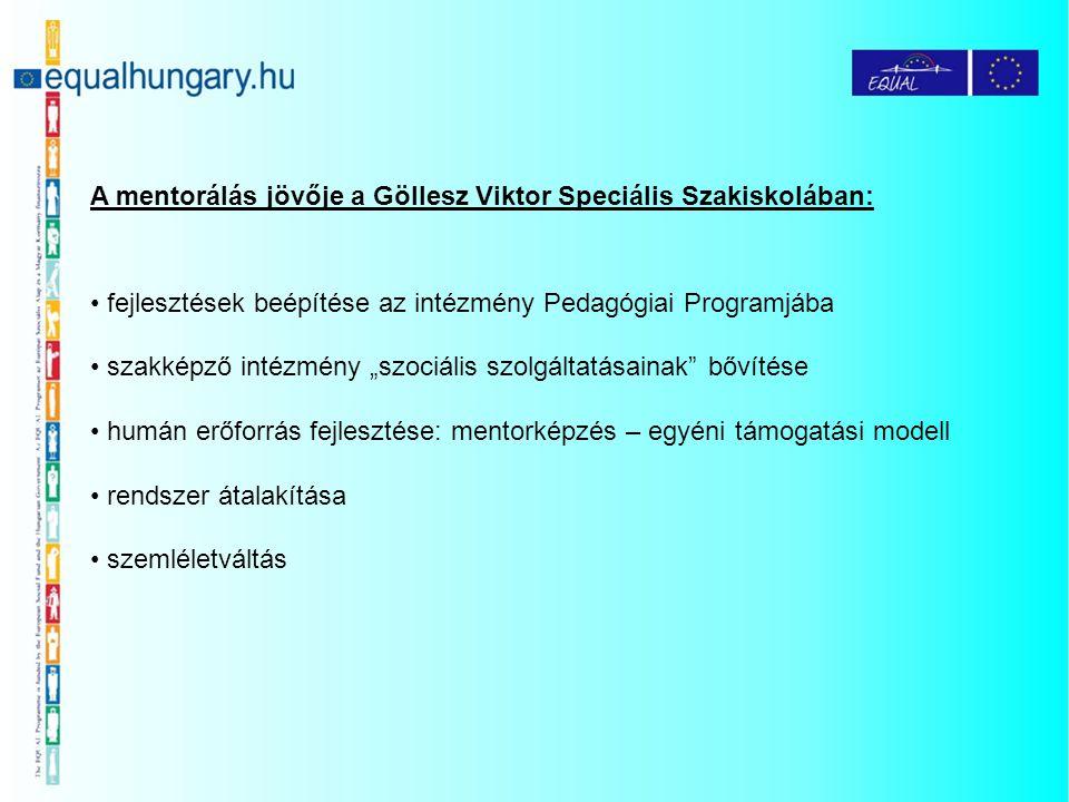 """A mentorálás jövője a Göllesz Viktor Speciális Szakiskolában: fejlesztések beépítése az intézmény Pedagógiai Programjába szakképző intézmény """"szociáli"""