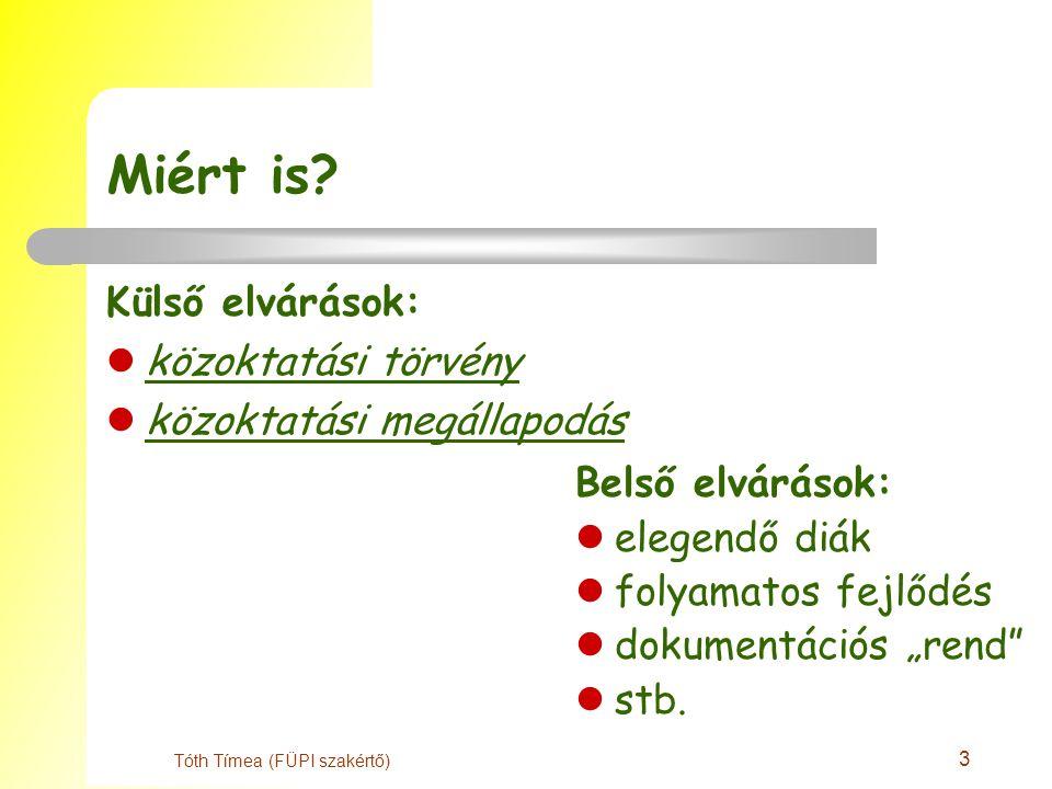 3 Tóth Tímea (FÜPI szakértő) Miért is.