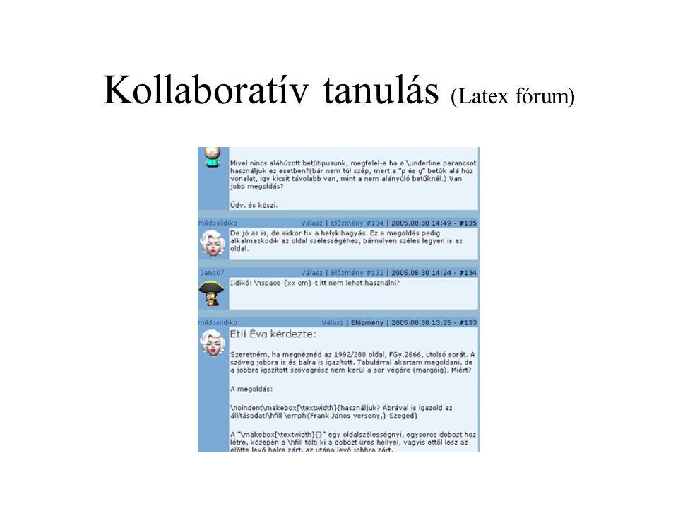 Kollaboratív tanulás (Latex fórum)