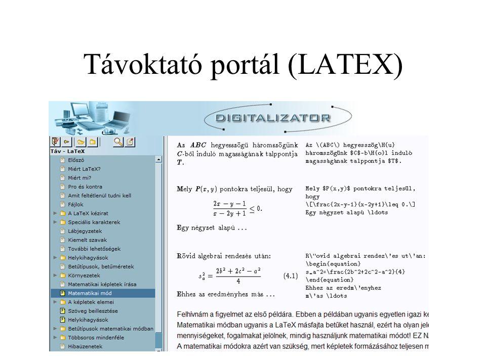 Távoktató portál (LATEX)