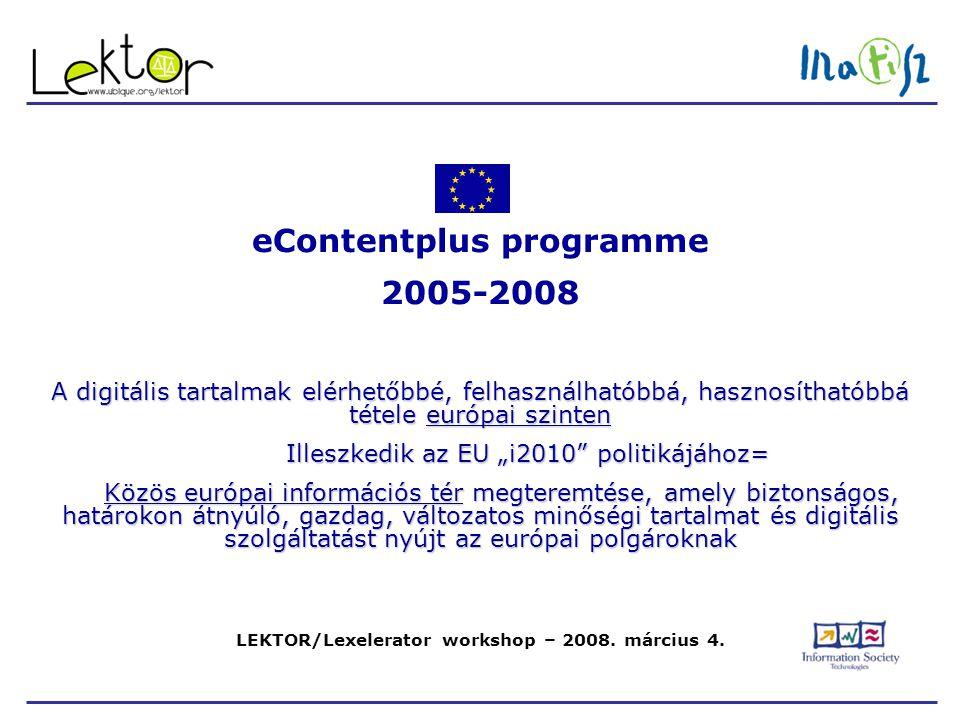 LEKTOR/Lexelerator workshop – 2008.március 4.