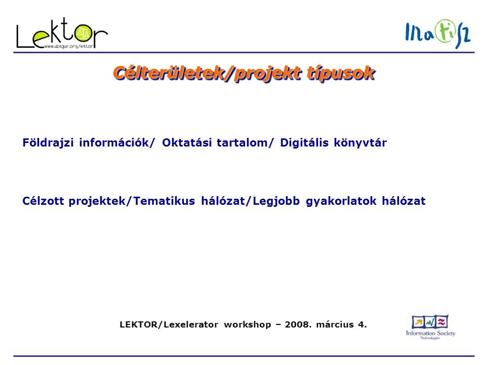 LEKTOR/Lexelerator workshop – 2008. március 4.