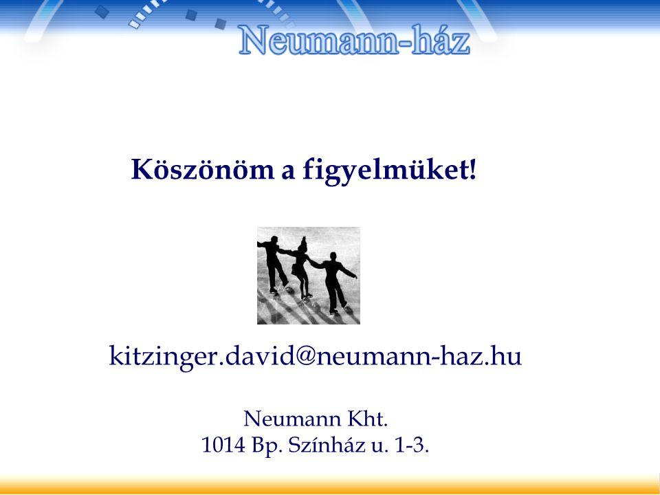 Köszönöm a figyelmüket! kitzinger.david@neumann-haz.hu Neumann Kht. 1014 Bp. Színház u. 1-3.