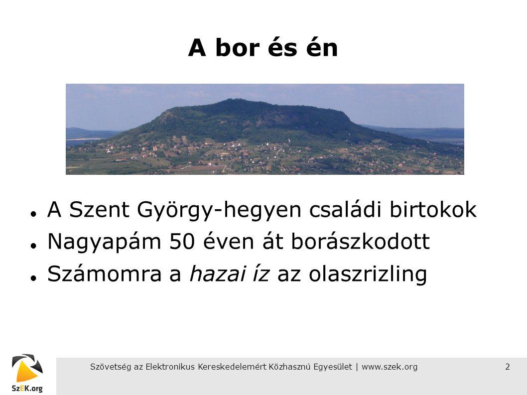 Szövetség az Elektronikus Kereskedelemért Közhasznú Egyesület | www.szek.org3 Az e-kereskedelmi piac nagysága Magyarországon