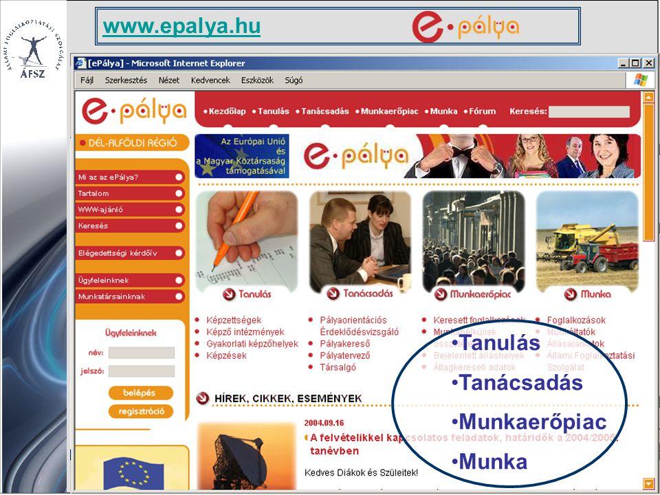Tanulás Tanácsadás Munkaerőpiac Munka www.epalya.hu