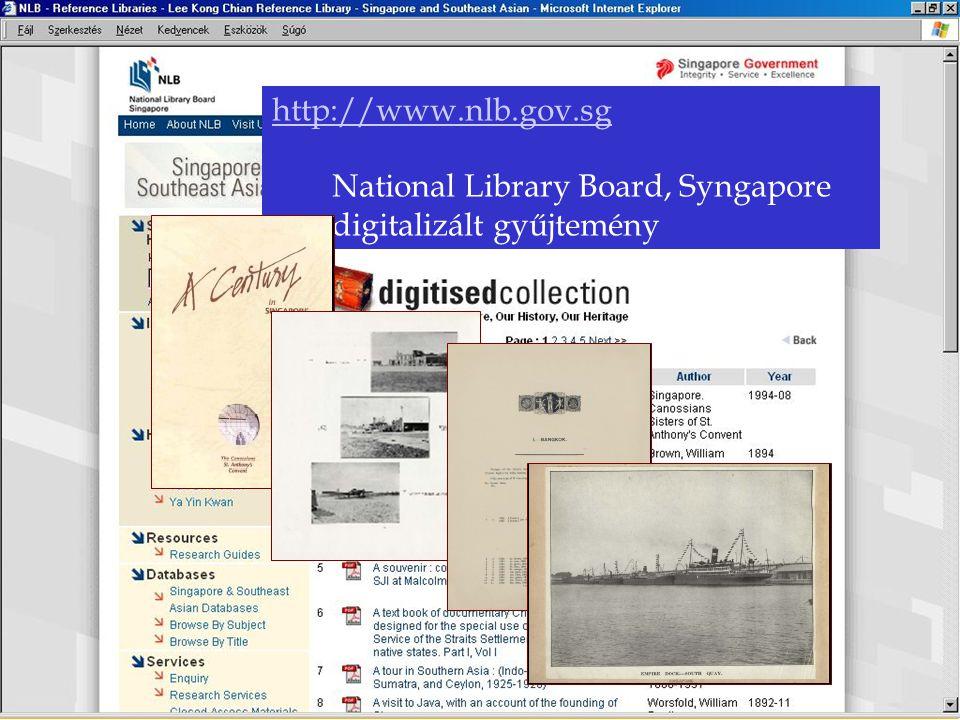 http://www.nlb.gov.sg National Library Board, Syngapore digitalizált gyűjtemény