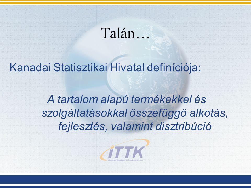 A tartalomipar 3 fő iránya nyomtatott kiadványok (pl.