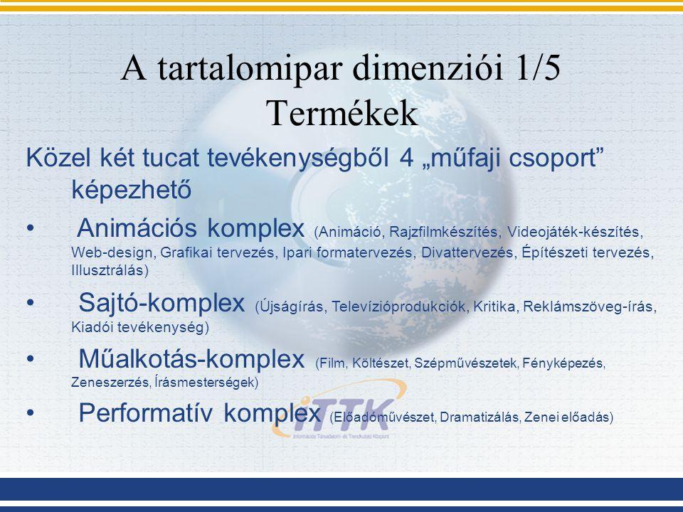 A tartalomipar dimenziói 2/5 Aktorok Előállító és fogyasztó Határvonalak, szerepcserék, tudatosság