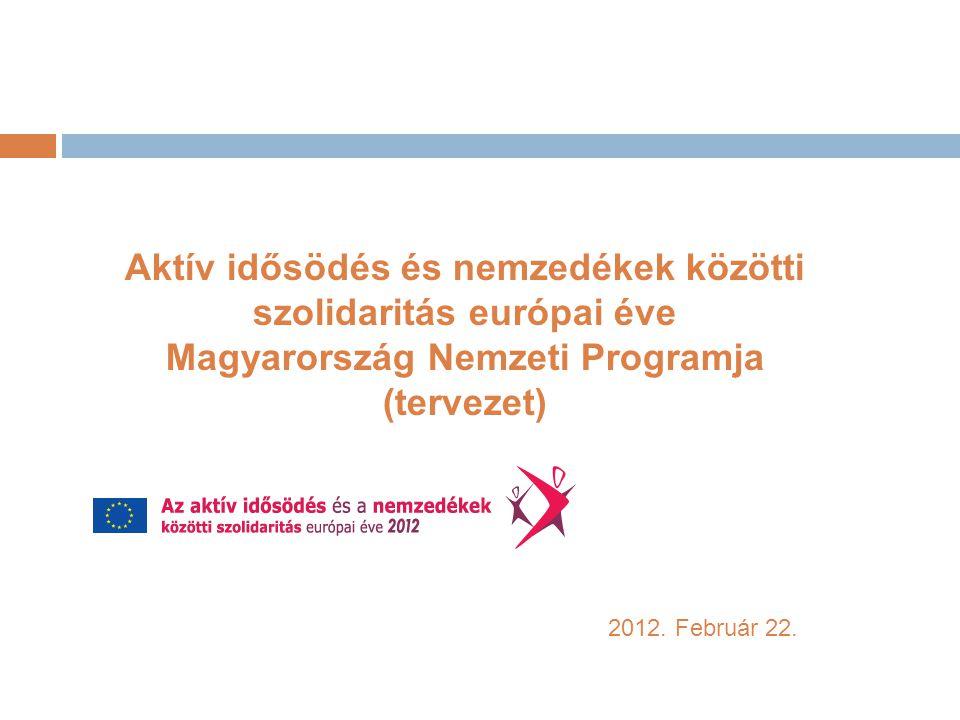 EU - háttér, előzmények  2008.április - konferencia a Generációk közötti szolidaritásról  2009.