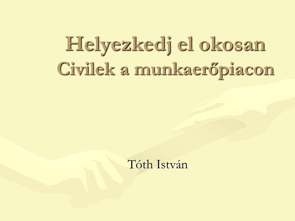 Helyezkedj el okosan Civilek a munkaerőpiacon Tóth István