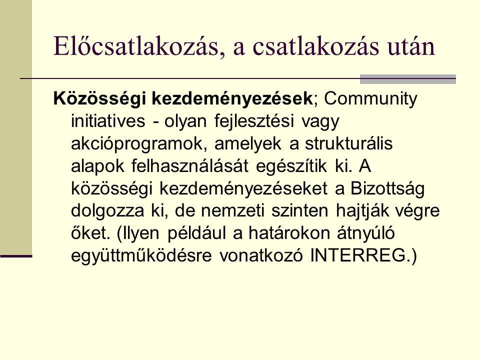 Közösségi kezdeményezések A Közösségi kezdeményezések együttese az Európai Bizottság által elfogadott, integrált intézkedések sorozata, amelynek célja a tagállamok közötti együttműködés erősítése különböző, a közösségi politikákhoz kapcsolódó területeken, több éves időtartam alatt.