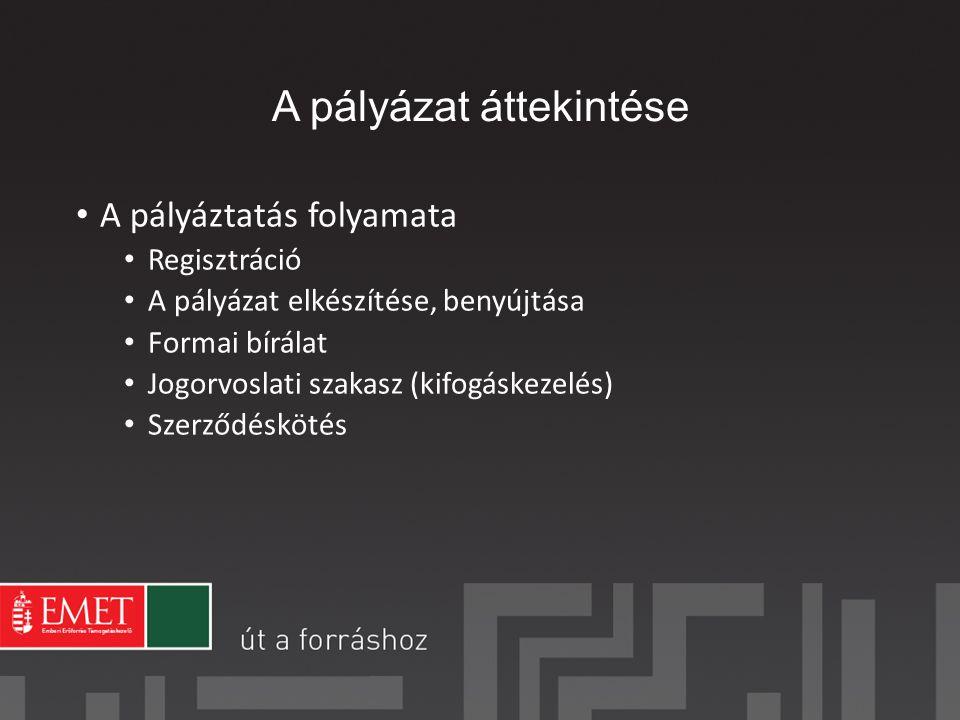 Várható ütemezés 2013.10. hó: kiírás megjelenése 2013.