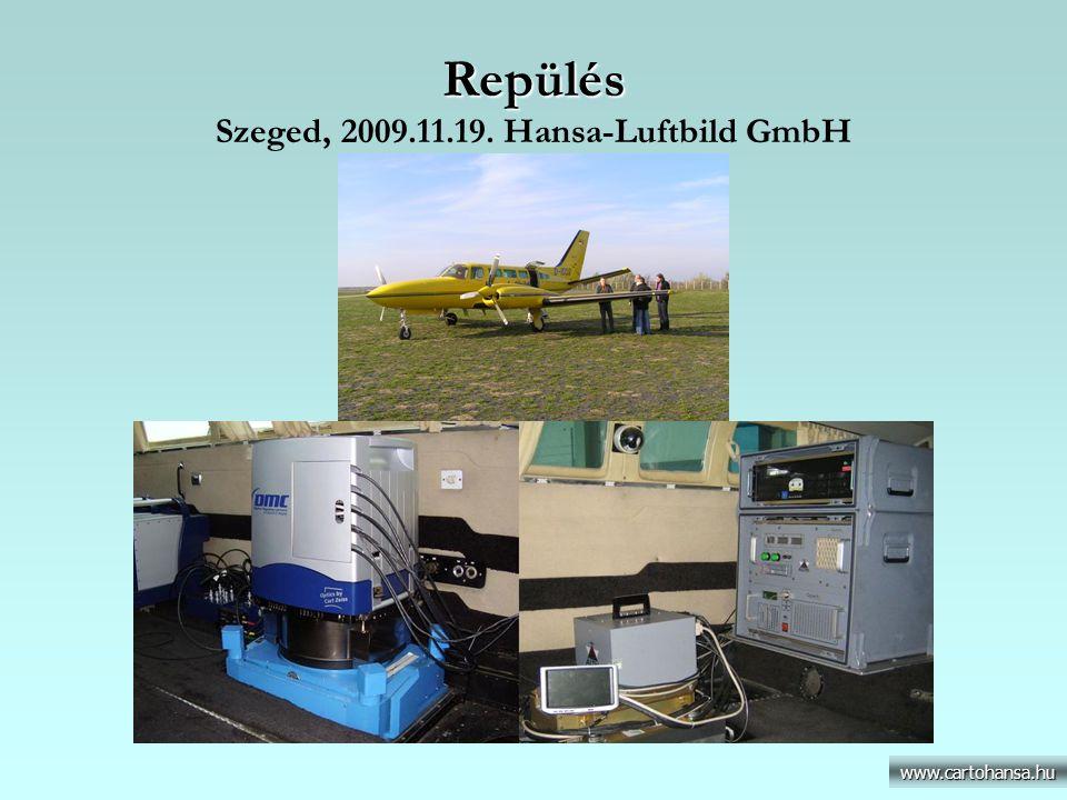 Lézerszkennelés Lézerszkennelés Műszaki paraméterek és eszközök www.cartohansa.hu Repülési paraméterek RepülőgépCessna 404 D-IDOS Repülési sebesség65 m/s Relatív repülési magasság1500 m Repülés dátuma2009.11.19 Lézeres mérés paraméterei MérőeszközALTM 3100 (Optech/Toronto) Lézermérési frekvencia70 000 Hz Max.