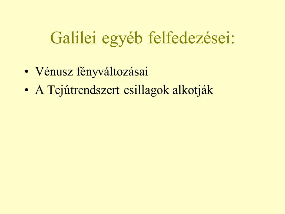 Galilei egyéb felfedezései: Vénusz fényváltozásai A Tejútrendszert csillagok alkotják
