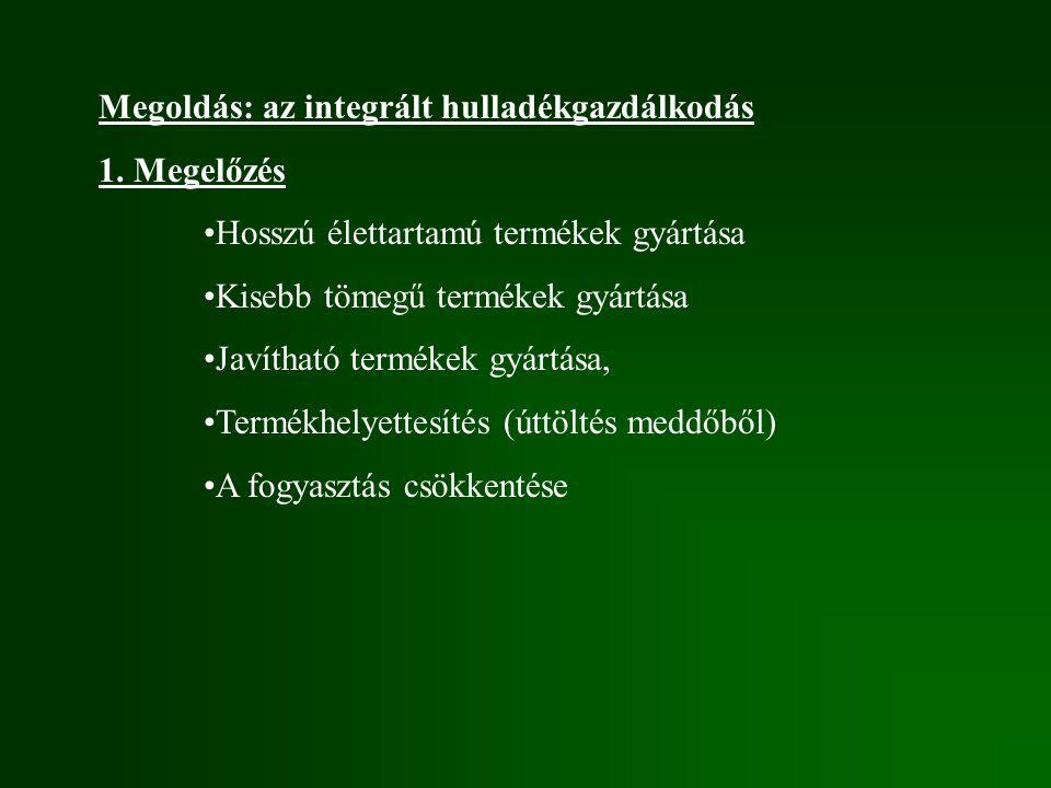 Megoldás: az integrált hulladékgazdálkodás 1.