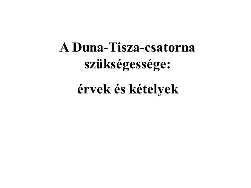 A Duna-Tisza-csatorna szükségessége: érvek és kételyek