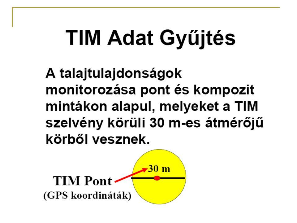 Toxikus elemek vizsgálata a TIM program keretében  A minták 1-2%-ában magasabb a Ni érték a határértéknél  Messze 1% alatti a határértéket meghaladó Cu- tartalom  A határértéket közelíti az Pb és Cd tartalom a minták egy kis részénél, ami egyértelműen antropogén hatás  Egyetlen mintában sem éri el a határértéket a Cr és Co  Az ország bizonyos területein magasabb az As- tartalom, ami geokémiai feldúsulást jelent