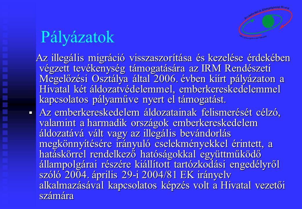 Amerikai - Magyar Emberkereskedelem Elleni Munkacsoport A hivatal 2004 óta aktív tagja a munkacsoportnak.