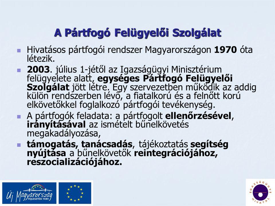 A Pártfogó Felügyelői Szolgálat Hivatásos pártfogói rendszer Magyarországon 1970 óta létezik.