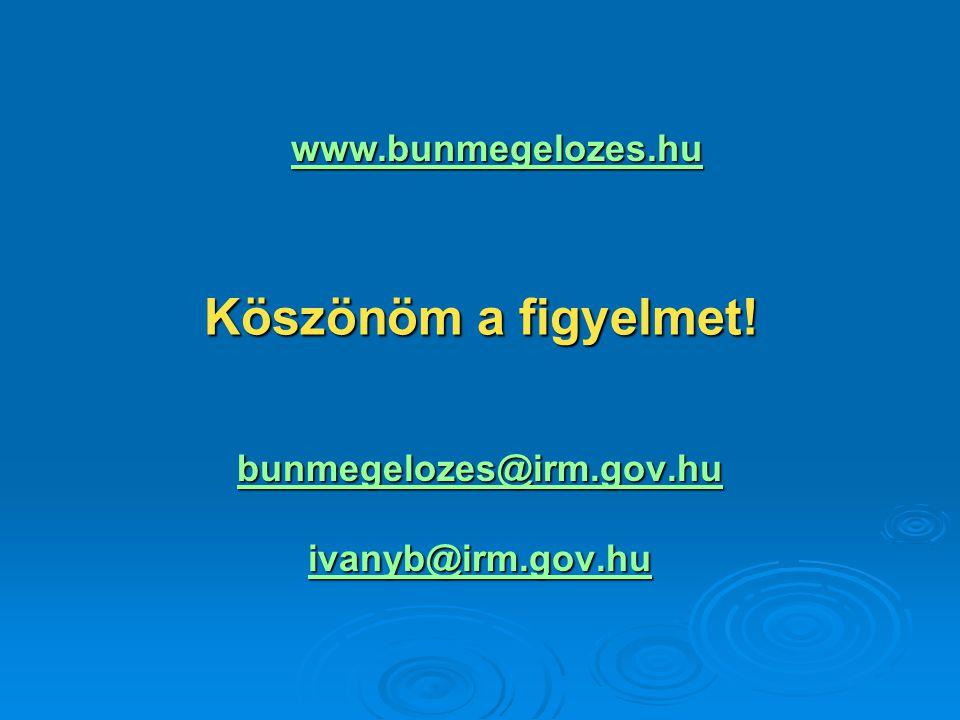 Köszönöm a figyelmet! bunmegelozes@irm.gov.hu ivanyb@irm.gov.hu www.bunmegelozes.hu