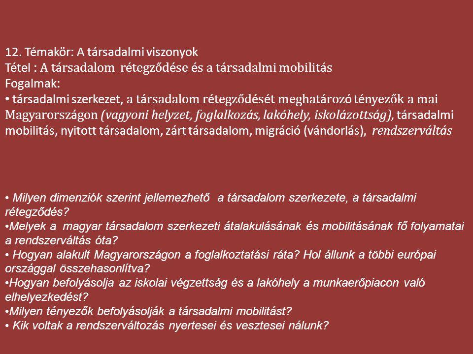 Osztályhelyzet és rétegződés 2003-ban 1.