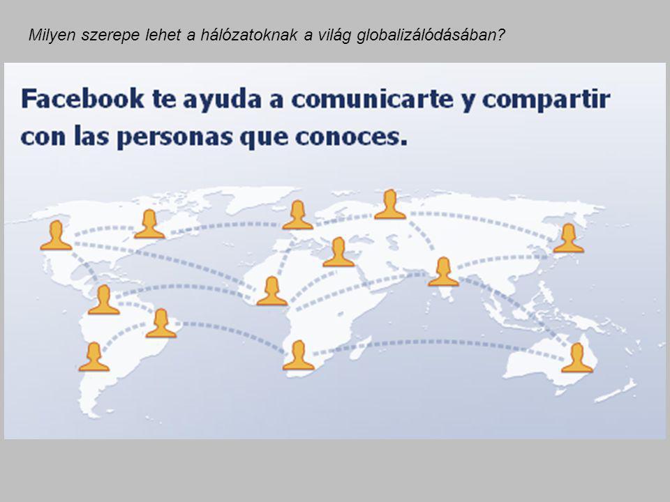 Milyen szerepe lehet a hálózatoknak a világ globalizálódásában?