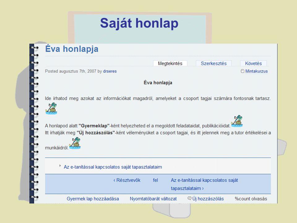 Saját honlap