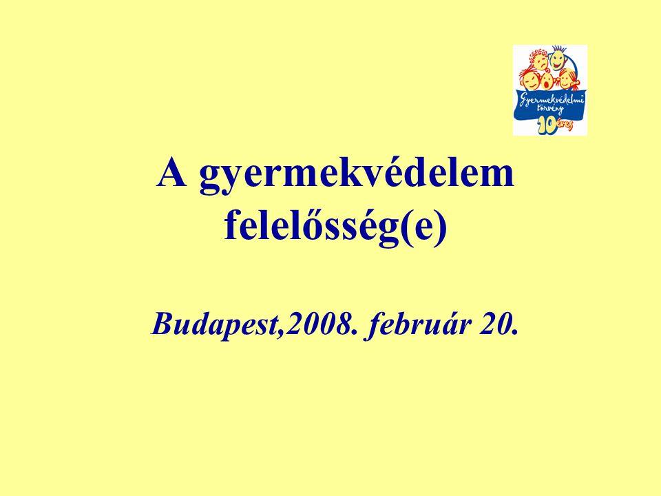 A gyermekvédelem felelősség(e) Budapest,2008. február 20.