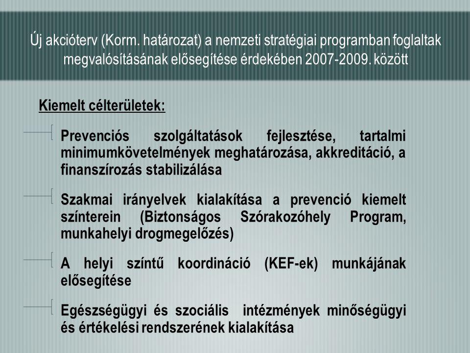 Új akcióterv (Korm. határozat) a nemzeti stratégiai programban foglaltak megvalósításának elősegítése érdekében 2007-2009. között Kiemelt célterületek