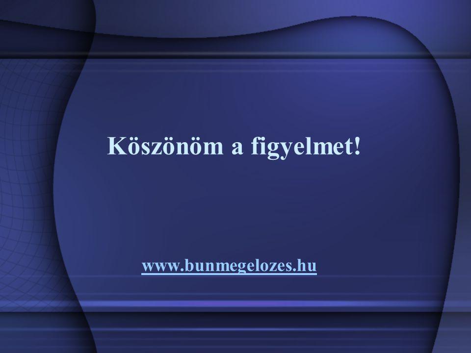 www.bunmegelozes.hu Köszönöm a figyelmet!