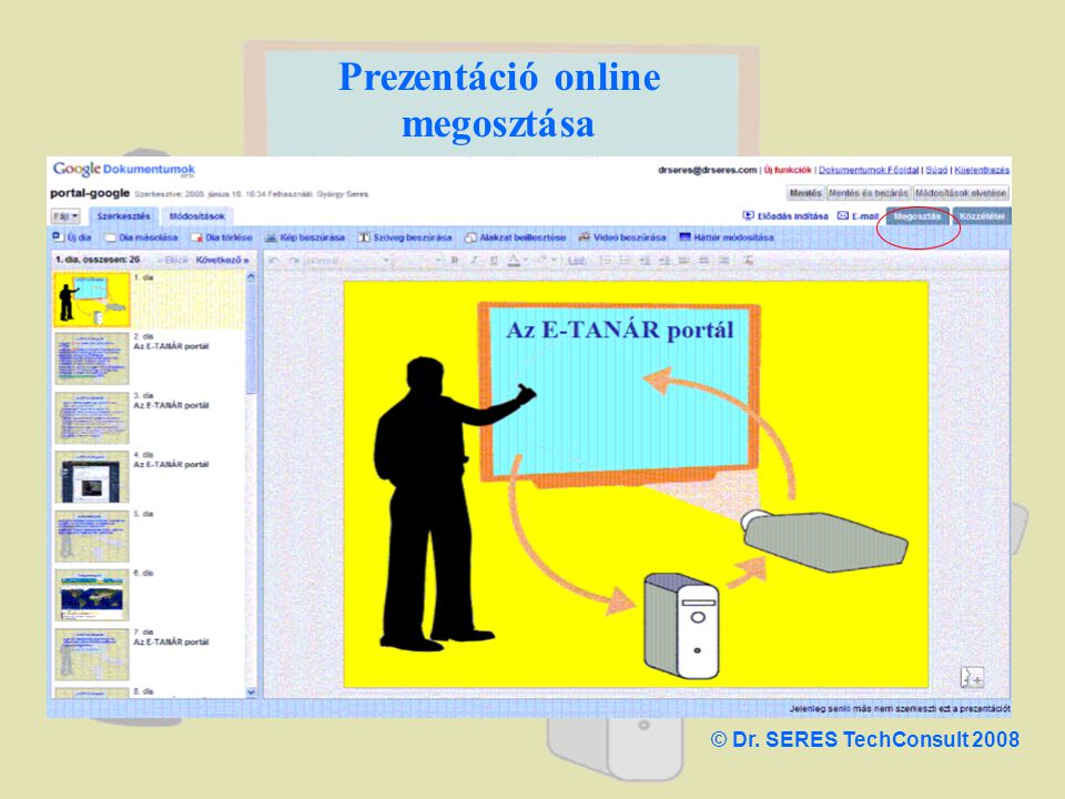 Prezentáció online megosztása © Dr. SERES TechConsult 2008
