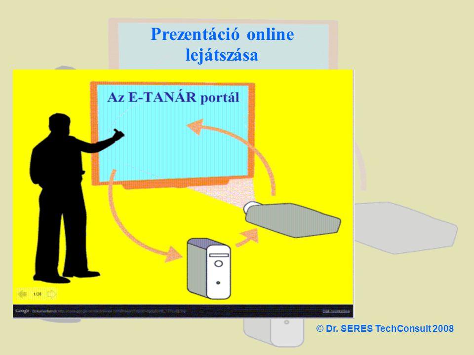 Prezentáció online lejátszása © Dr. SERES TechConsult 2008