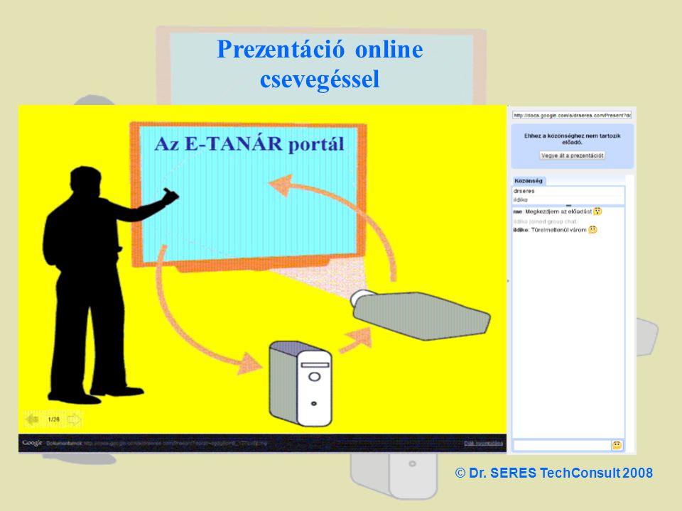 Prezentáció online csevegéssel © Dr. SERES TechConsult 2008