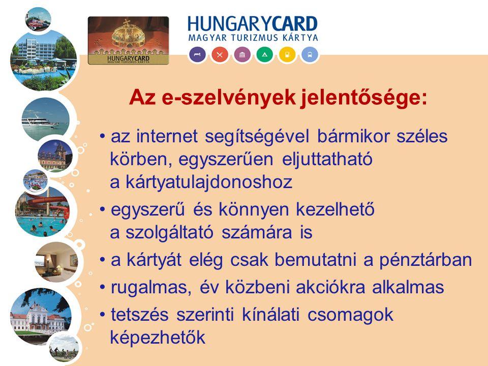 az internet segítségével bármikor széles körben, egyszerűen eljuttatható a kártyatulajdonoshoz egyszerű és könnyen kezelhető a szolgáltató számára is