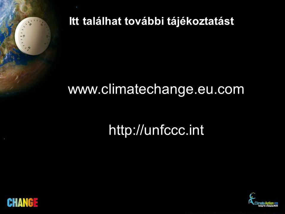 Itt találhat további tájékoztatást www.climatechange.eu.com http://unfccc.int