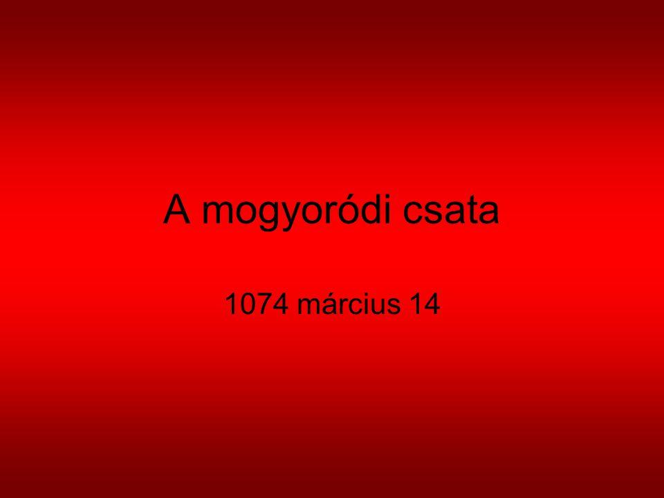 A mogyoródi csata 1074 március 14